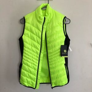 Xersion neon green puffer vest NEW